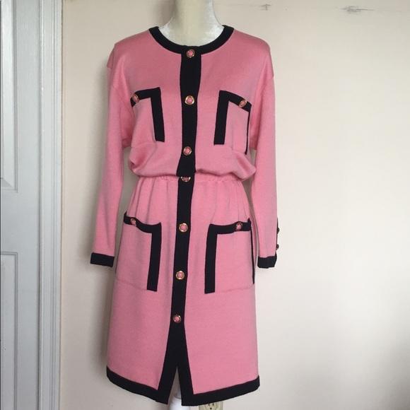 Escada Dresses & Skirts - 💯 Authentic Vintage Escada Pink Dress 38 size M